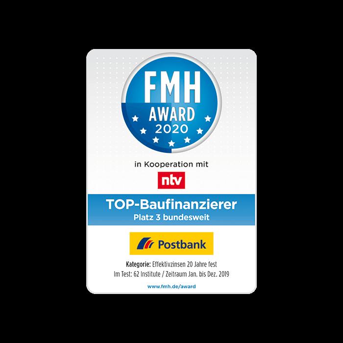 Postbank erneut mit FMH Award ausgezeichnet