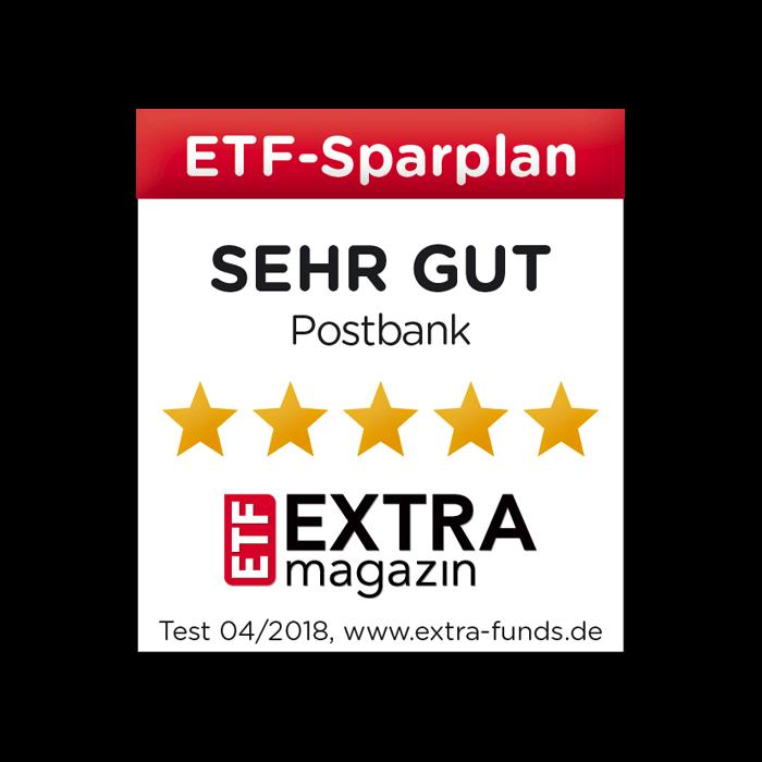 Postbank ETF-Sparplan auf Platz 1