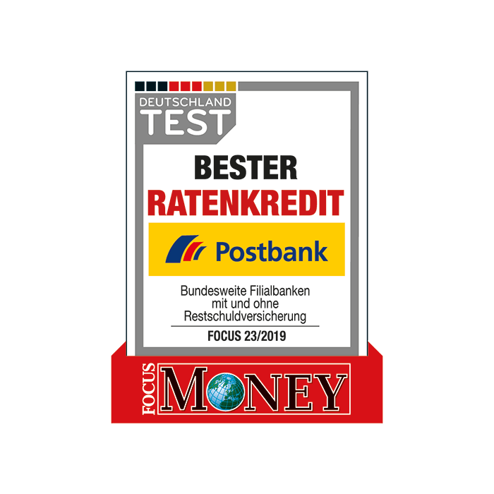 Postbank – Bester Ratenkredit laut FOCUS-MONEY