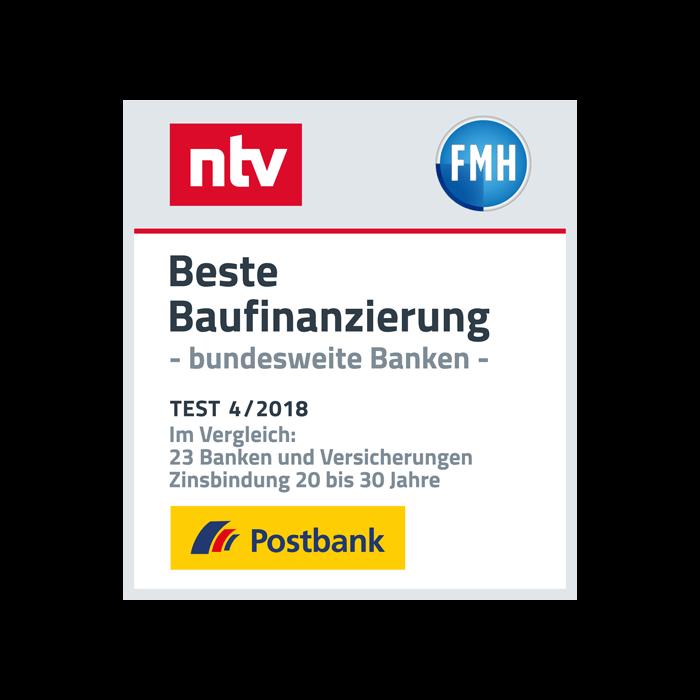 """Postbank hat die """"Beste Baufinanzierung"""""""