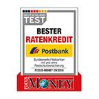 "Postbank ""Bester Ratenkredit"""