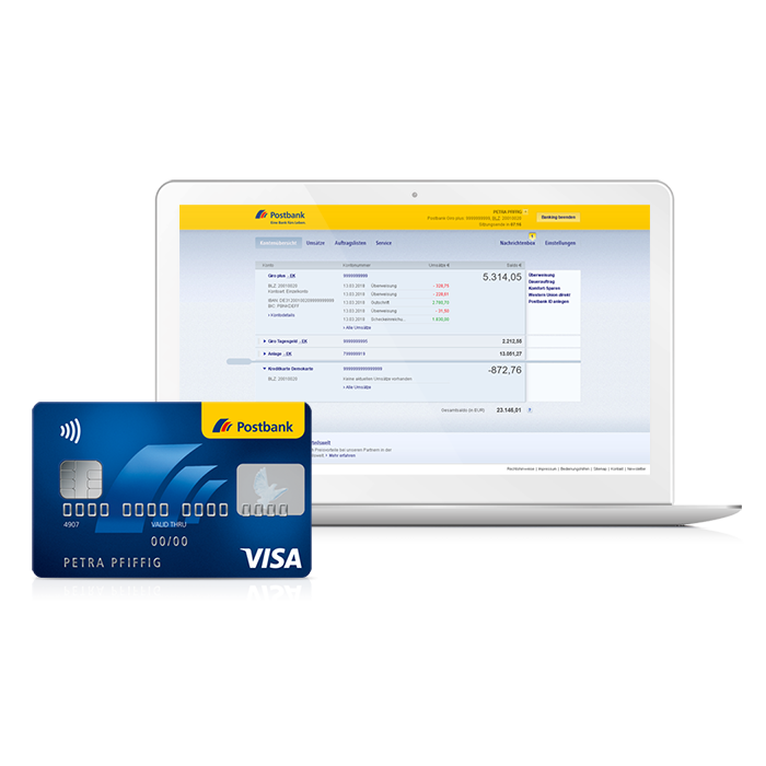 Kreditkarten-Onlineservice