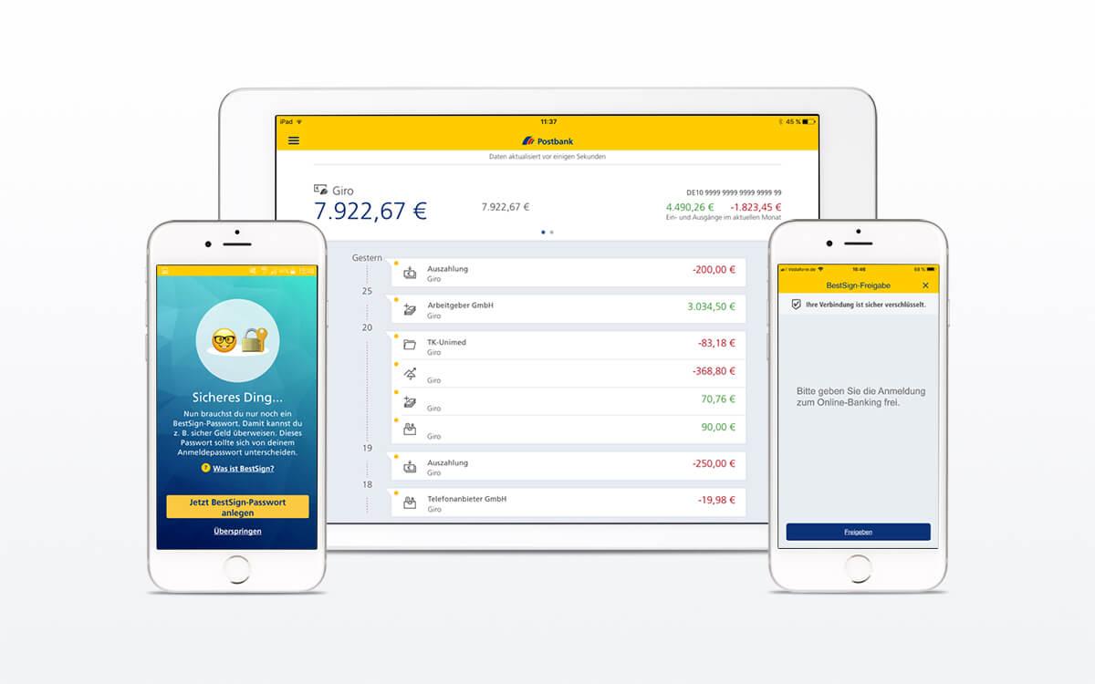 Postbank BestSign mit einer App