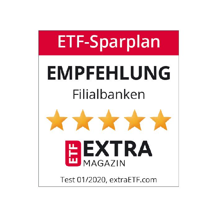 Extra Magasin ETF Sparplan Auszeichnung
