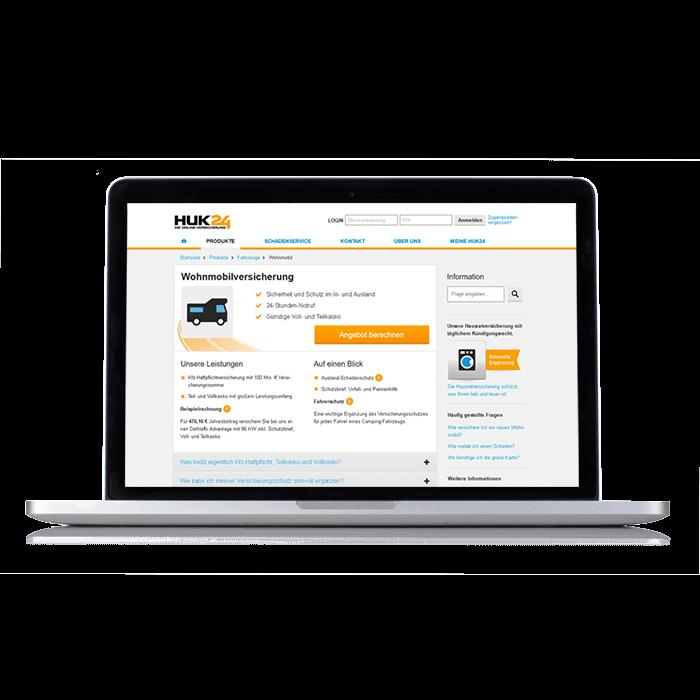 HUK24 Wohnmobilversicherung – Nutzen Sie den Online-Vorteil