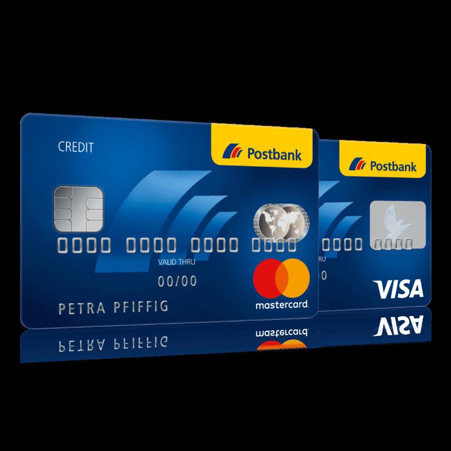 Postbank Mastercard und Postbank Visa Card