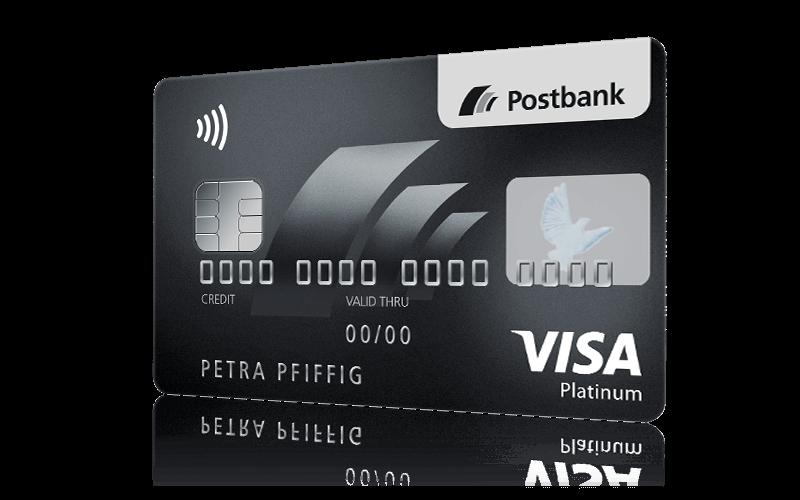 Weltweit sicher und frei - Ihre Postbank Visa Card PLATINUM