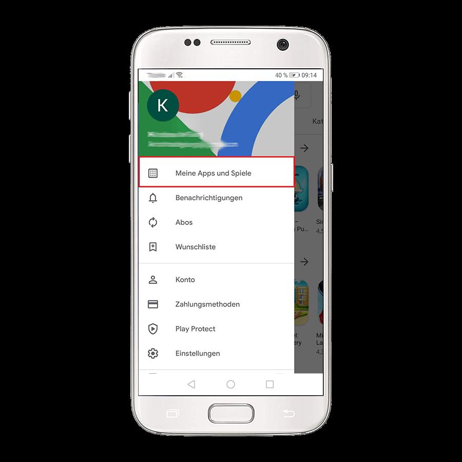 Sollte Ihnen kein automatischer Hinweis für ein Update angezeigt werden, so können Sie manuell nach einem Update suchen.
