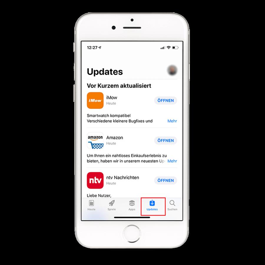 Updates für Postbank Apps – Manuell nach einem Update unter iOS suchen