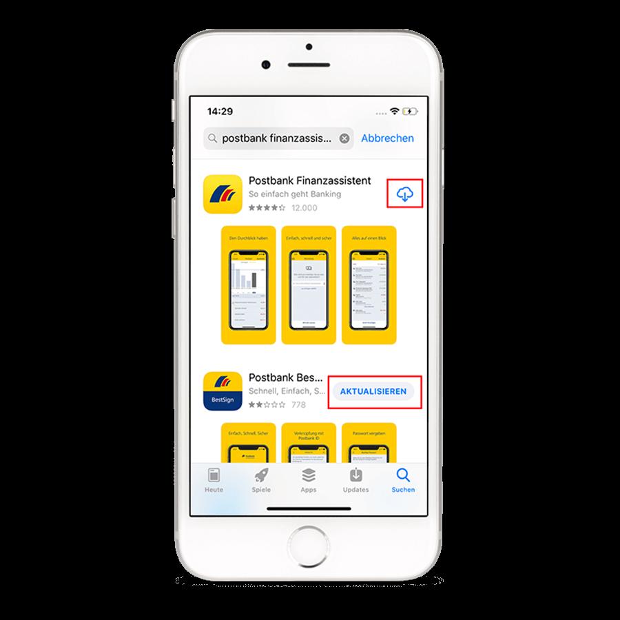Nach erfolgreicher Aktualisierung können Sie die App öffnen und wie gewohnt nutzen.