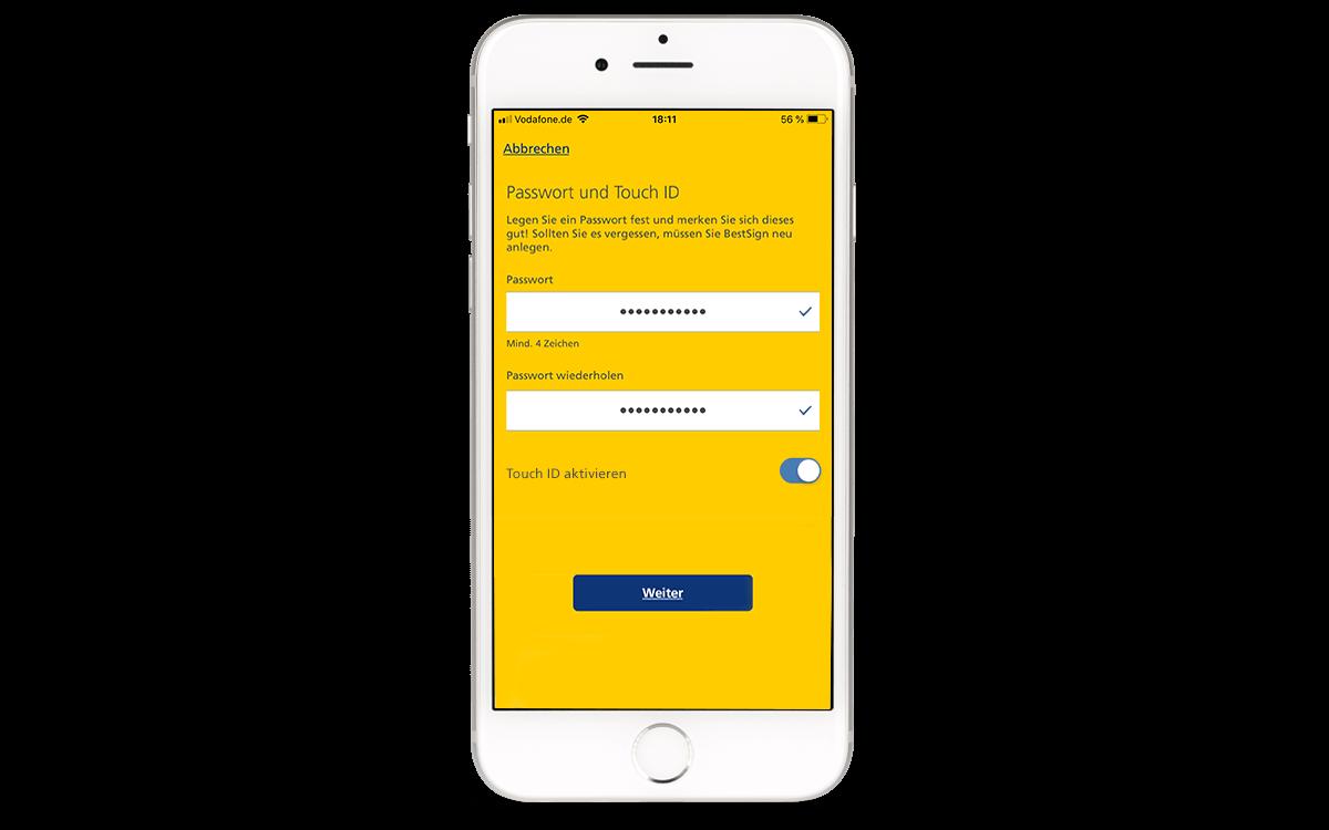 BestSign - Finanzassistent - Passwort festlegen