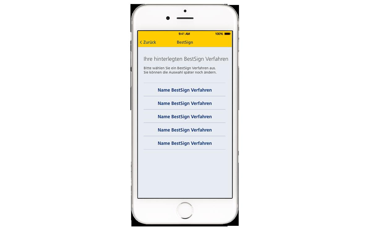 Finanzassistent - Sie nutzen bereits Postbank BestSign?