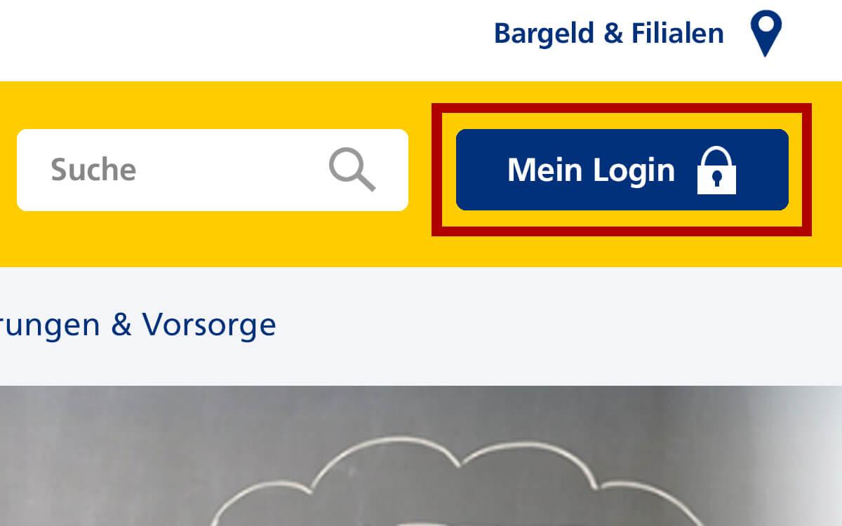 Neue Navigation – Login Online-Banking