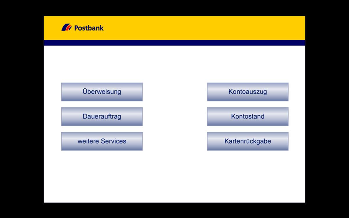 Service-Terminals - Überweisung wählen