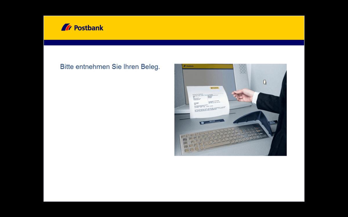 Service-Terminals - Überweisung - Beleg