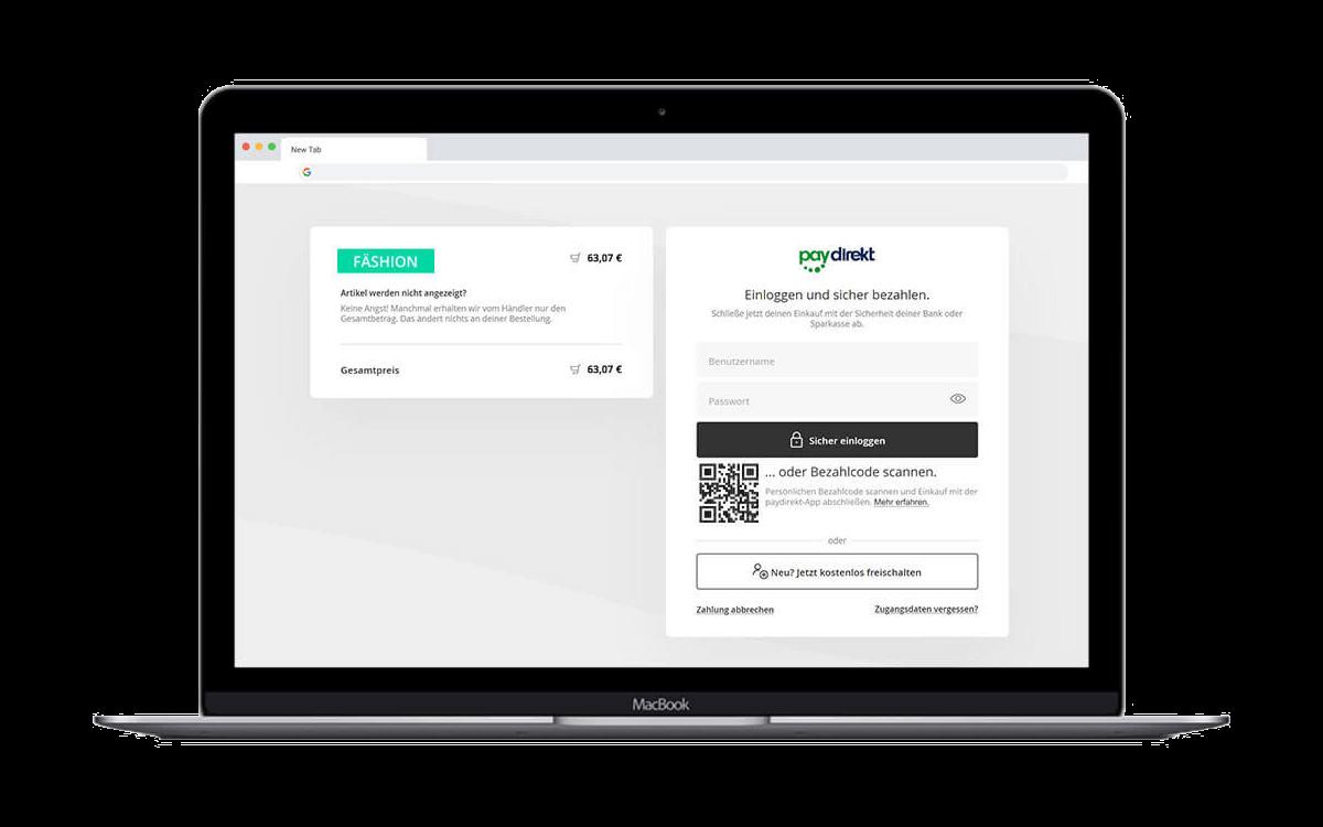 So einfach funktioniert die Freigabe von Zahlungen mit der paydirekt-App auf dem Desktop