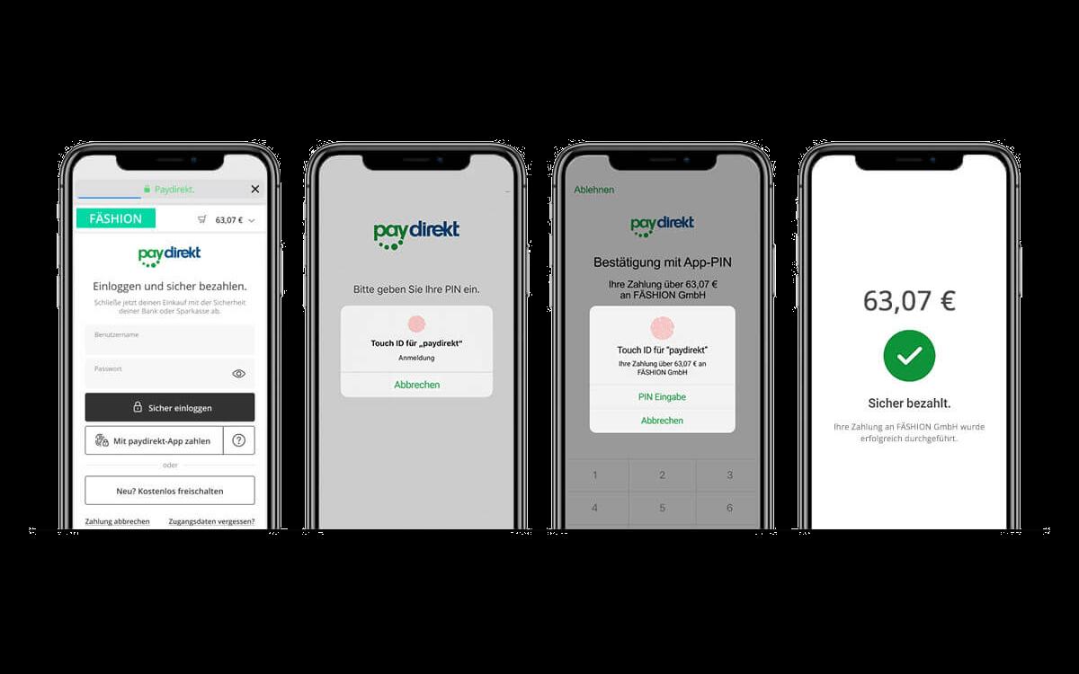So einfach funktioniert die Freigabe von Zahlungen mit der paydirekt-App auf dem Smartphone