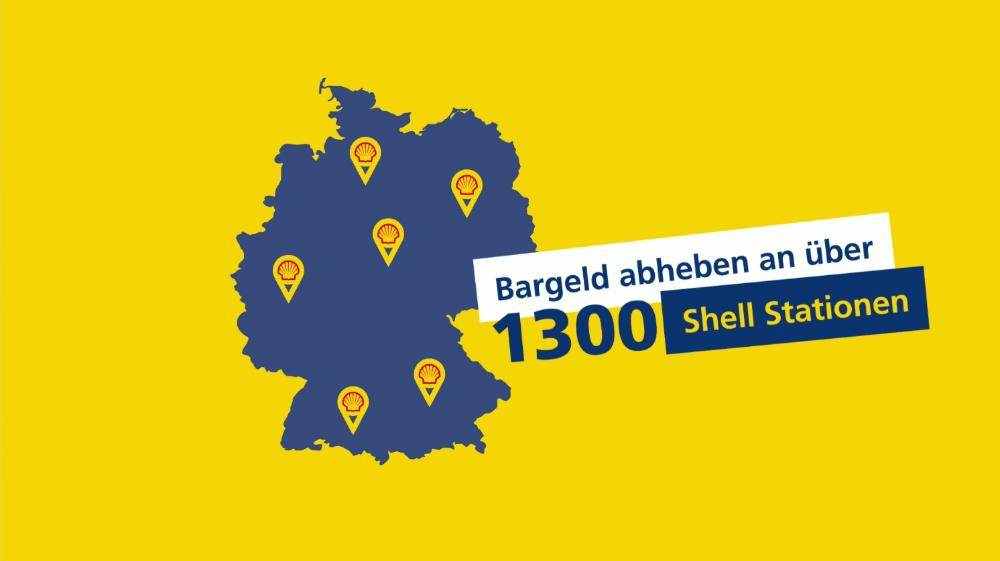 Bargeld abheben an über 1.300 Shell Stationen
