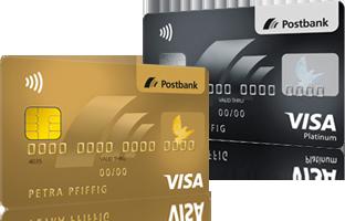 Kreditkarten-Onlineservice - Wechsel zur Postbank Visa Card GOLD und Postbank Visa Card PLATINUM