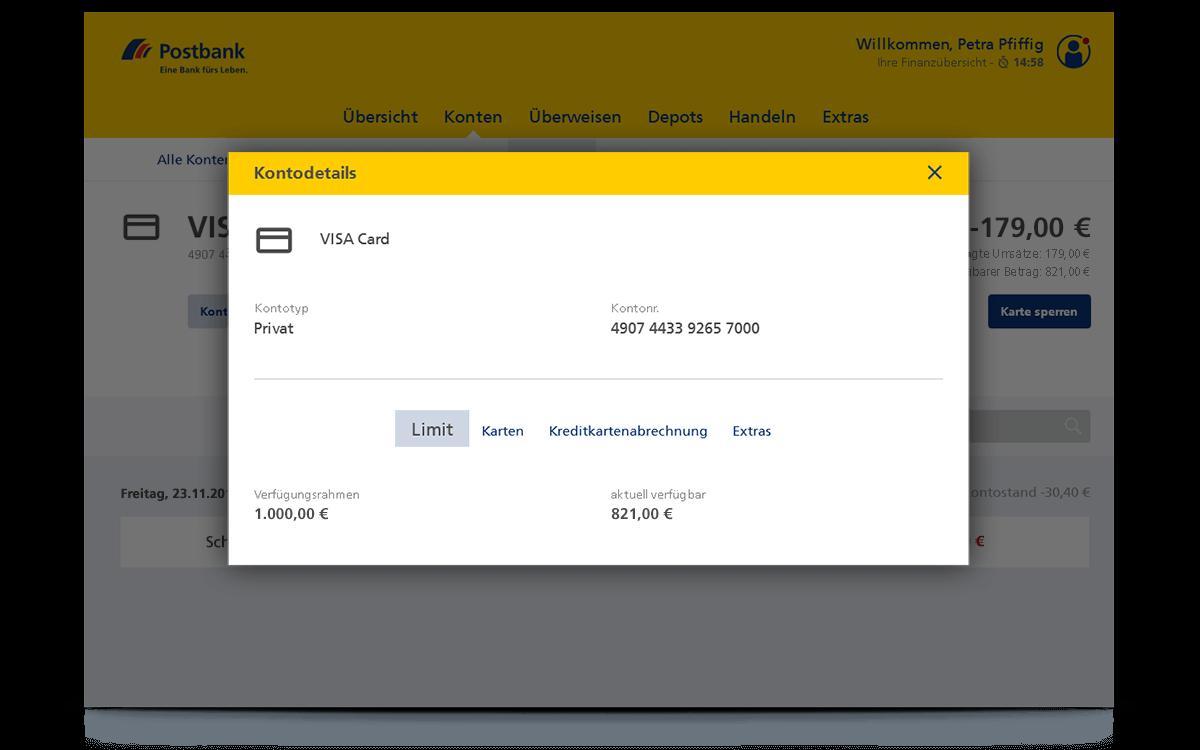 Kreditkarte Limit