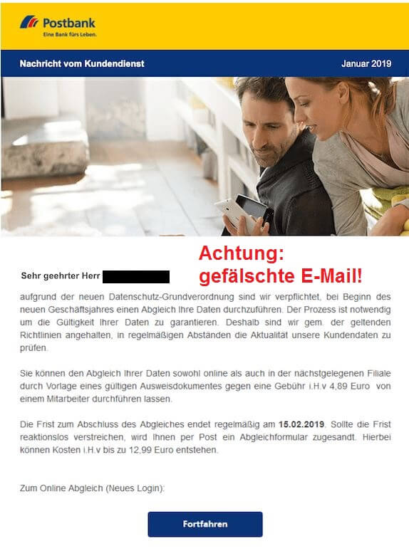 Sicherheitshinweise - Phishing-Mails zur DSGVO