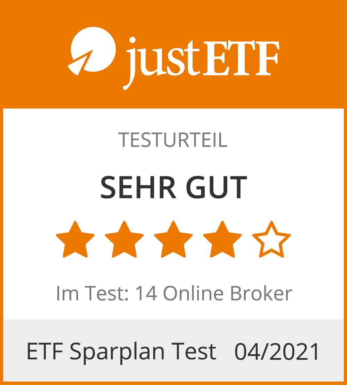 Postbank ETF-Sparplan - Testurteil Sehr Gut
