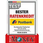 "Postbank ""Bester Ratenkredit"""