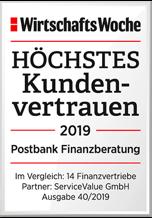 Postbank Finanzberatung genießen höchstes Kundenvertrauen