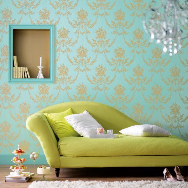 <p>Goldene Zeiten für stilvolle Wände<br> Bild Nr. 6221, Quelle: Tapetenstudio.de/BHW Bausparkasse</p>