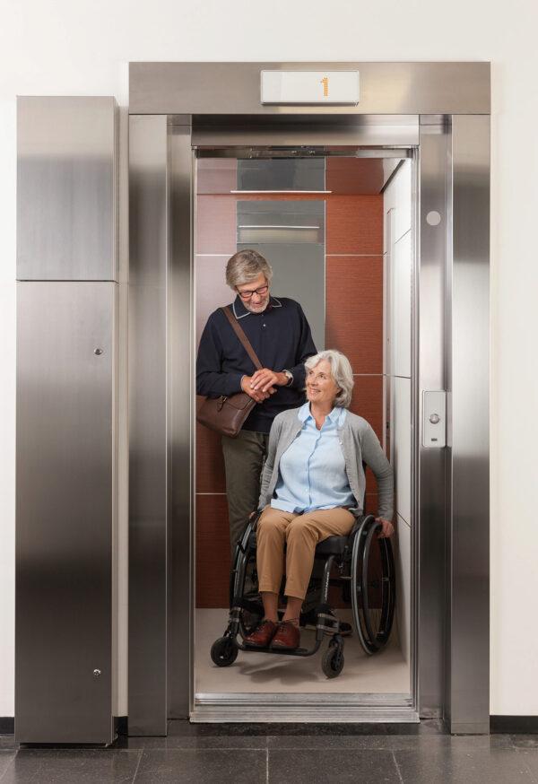 <p>Moderne Aufzüge: Barrierefreiheit für alle Bewohner<br> Bild Nr. 6229, Quelle: KONE Aufzüge/ BHW Bausparkasse</p>