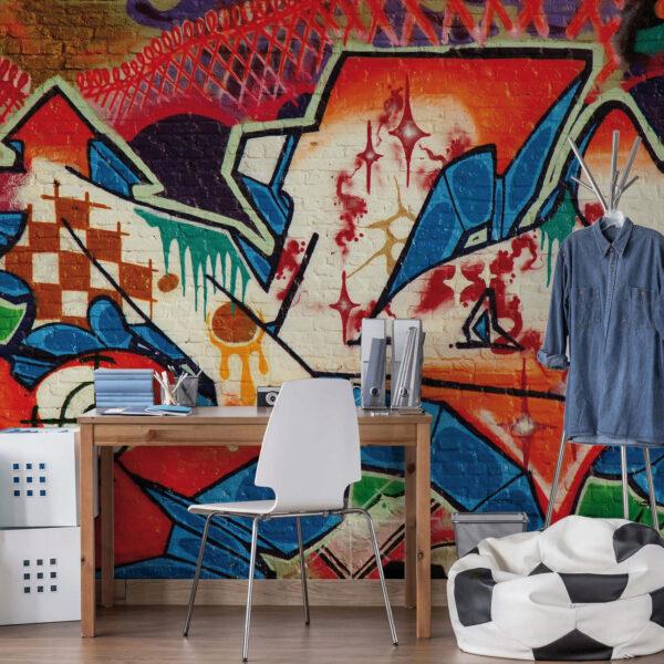 Urban einrichten mit Graffiti-Kunst Bild Nr. 6272, Quelle: wall-art.de/BHW Bausparkasse