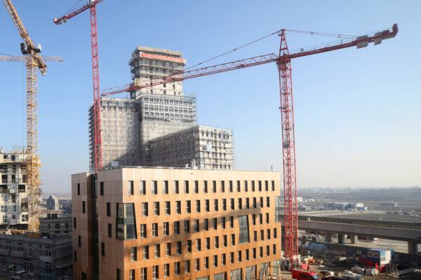 """Ganz neu: Bauarbeiten am """"HoHo Wien"""", dem höchsten Holzhaus der Welt Bild Nr. 6294, Quelle: cetus-Baudevelopment-GmbH/BHW Bausparkasse"""