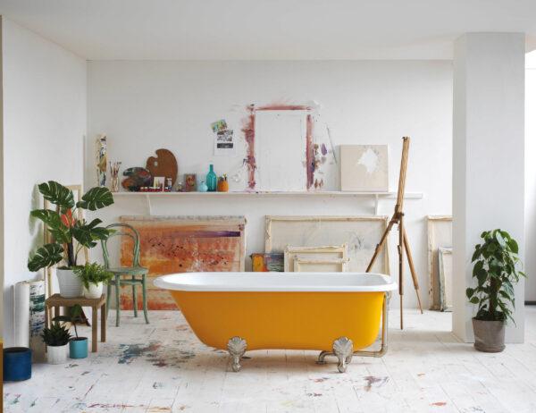 Da geht die Sonne auf: Badewanne in Gelb Bild Nr. 6322, Quelle: Victoria + Albert/BHW Bausparkasse