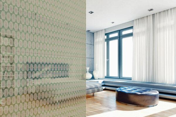 Gemusterte Raumteiler geben Zimmern eine kreative Note Bild Nr. 6339, Quelle: Glas Marte/BHW Bausparkasse