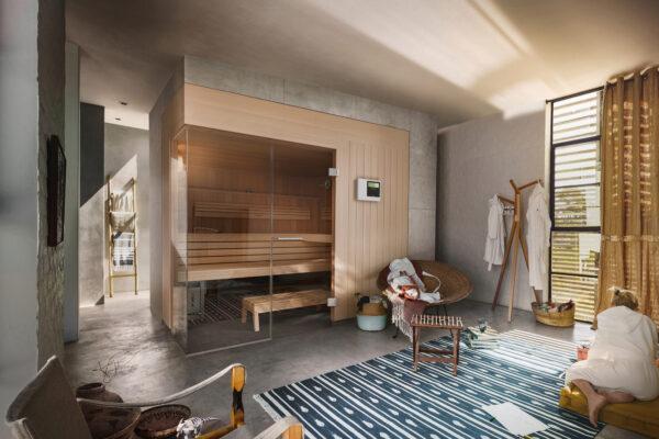 Moderne Heimsaunen integrieren sich in das Wohnumfeld Bild Nr. 6353, Quelle: Klafs/BHW Bausparkasse
