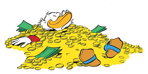 Corona und Geld: Werden wir wie Dagobert Duck?