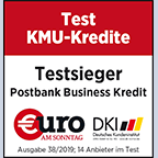 Postbank Business Kredit ist Testsieger