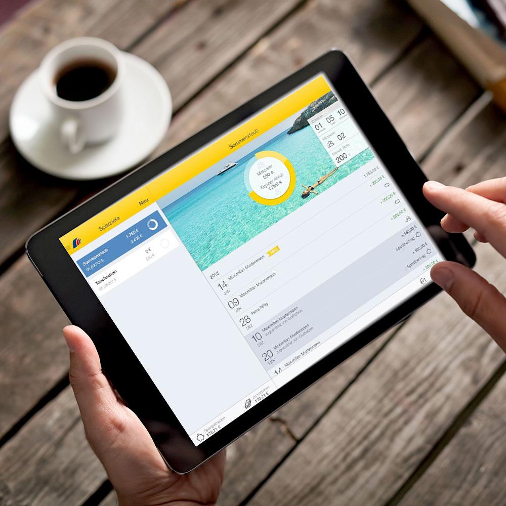 Mit dem Sparplaner für Ihr Tablet effektiv sparen