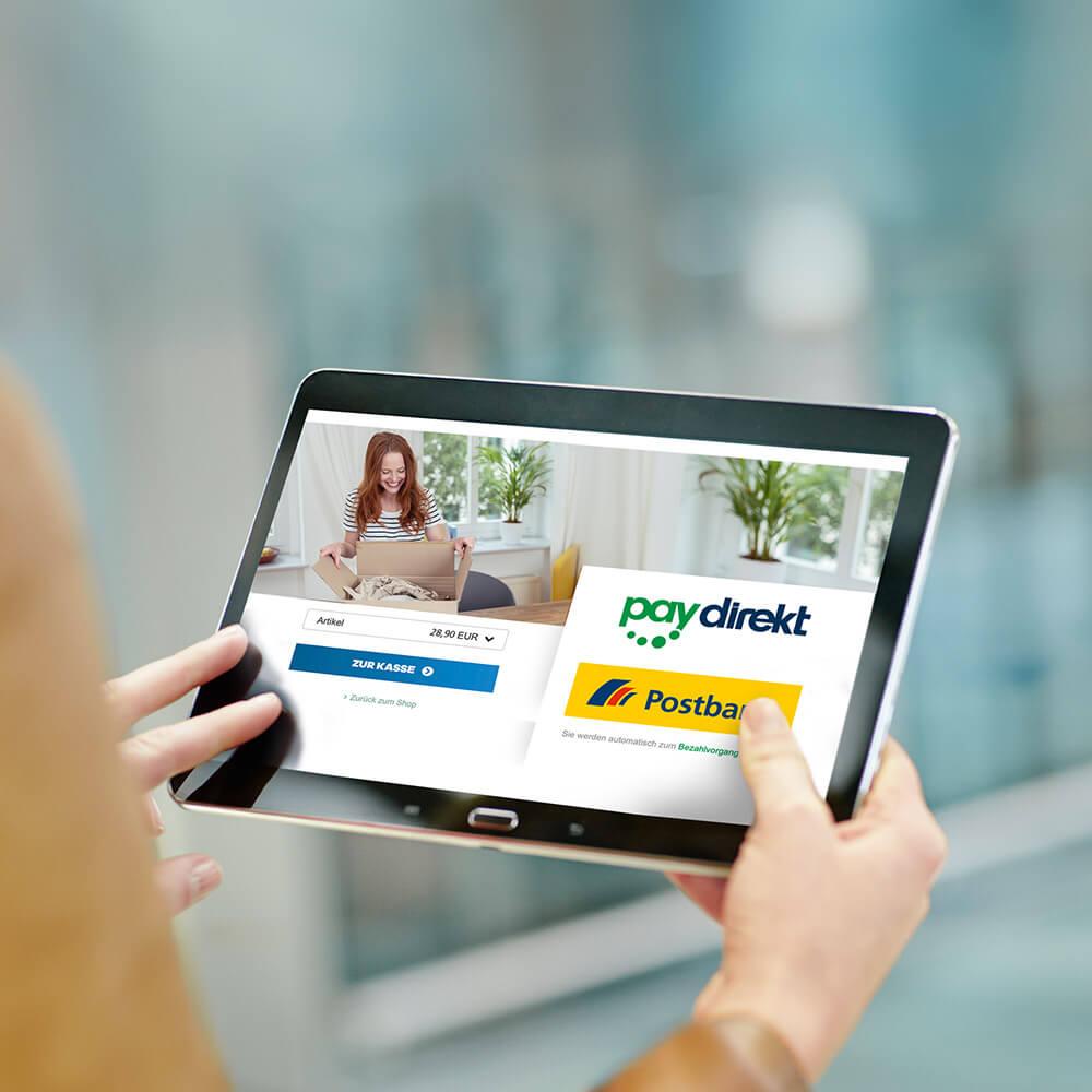 Einfach und sicher online bezahlen – paydirekt